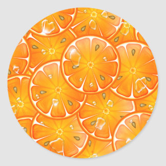 oranges classic round sticker