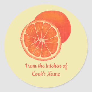 Oranges, From the Kitchen of, Lid Stickers