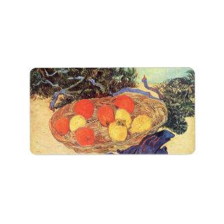 oranges, lemons and blue gloves by Van Gogh