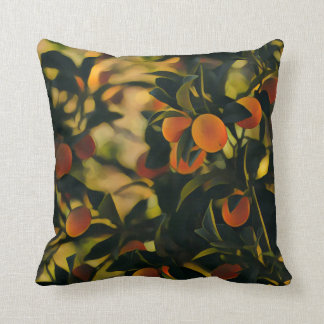 Oranges Obsession Garden Throw Pillow / Cushion