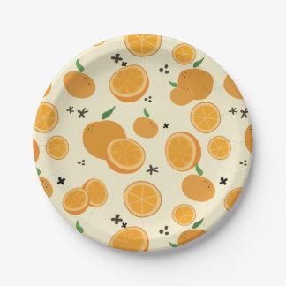 Oranges Paper Plate