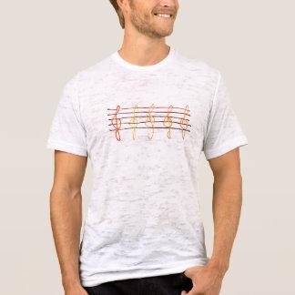 Oranges & Reds Treble Clefs T-Shirt