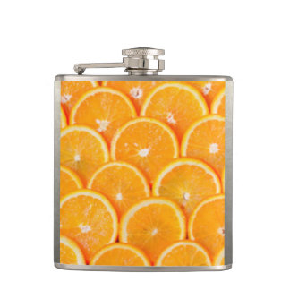 oranges Slices Hip Flask