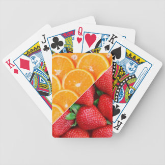 Oranges & Strawberries Collage Bicycle Playing Cards