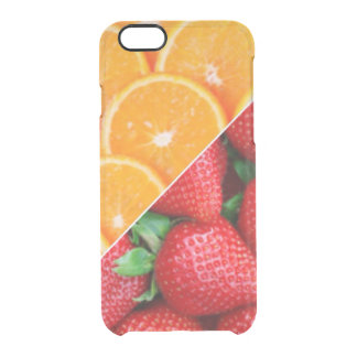 Oranges & Strawberries Collage Clear iPhone 6/6S Case