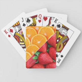Oranges & Strawberries Collage Poker Deck
