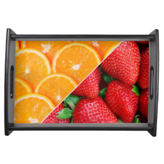 Oranges & Strawberries Collage Serving Tray