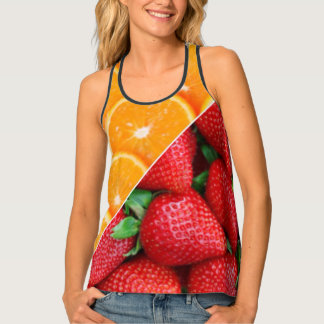 Oranges & Strawberries Collage Tank Top