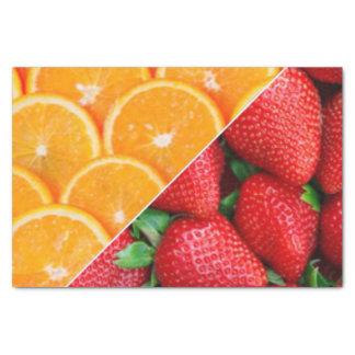 Oranges & Strawberries Collage Tissue Paper