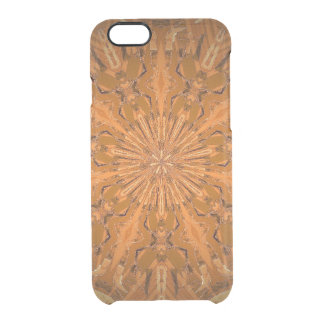 Orangey Fire Kaleidoscope Clear iPhone 6/6S Case