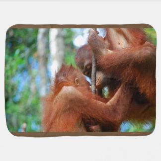 Orangutan Animal Kisses Baby Blanket