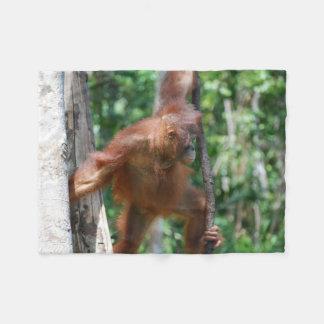 Orangutan Animal Lover Fleece Blanket