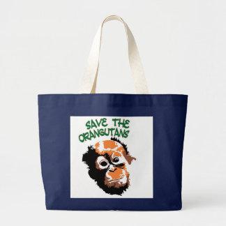 Orangutan Art Large Tote Bag