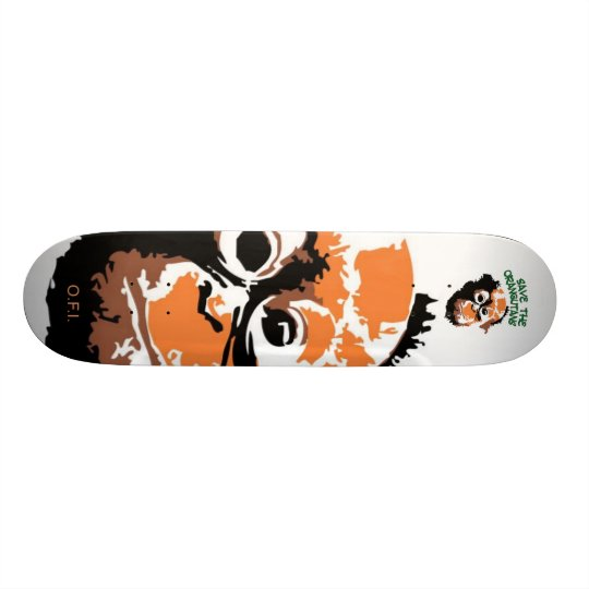 Orangutan  Art Skateboard Deck