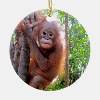 Orangutan Baby Uttuh Ceramic Ornament