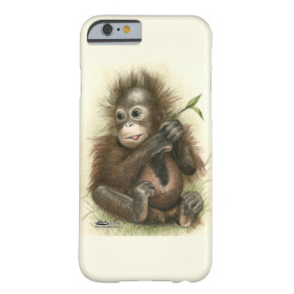 Orangutan Baby With Leaves Barely There iPhone 6 Case