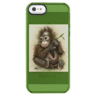 Orangutan Baby With Leaves Clear iPhone SE/5/5s Case