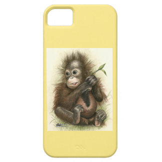 Orangutan Baby With Leaves iPhone 5 Covers