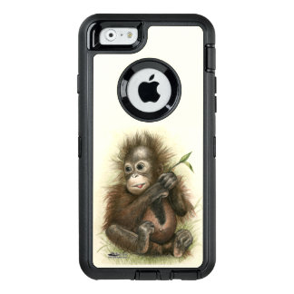Orangutan Baby With Leaves OtterBox iPhone 6/6s Case