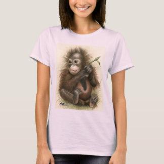 Orangutan Baby With Leaves T-Shirt