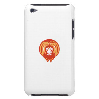 Orangutan Bearded Front Retro Barely There iPod Cases