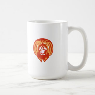 Orangutan Bearded Front Retro Coffee Mug