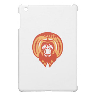 Orangutan Bearded Front Retro Cover For The iPad Mini