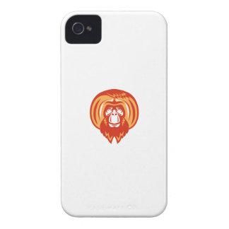 Orangutan Bearded Front Retro iPhone 4 Cover