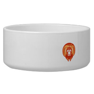 Orangutan Bearded Front Retro Pet Food Bowls