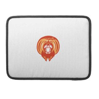 Orangutan Bearded Front Retro Sleeve For MacBooks