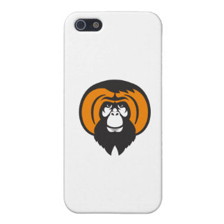 Orangutan Bearded Tussled Hair Retro Case For The iPhone 5