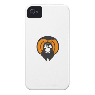 Orangutan Bearded Tussled Hair Retro Case-Mate iPhone 4 Cases