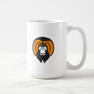 Orangutan Bearded Tussled Hair Retro Coffee Mug