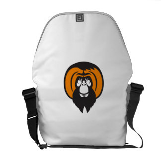 Orangutan Bearded Tussled Hair Retro Commuter Bag