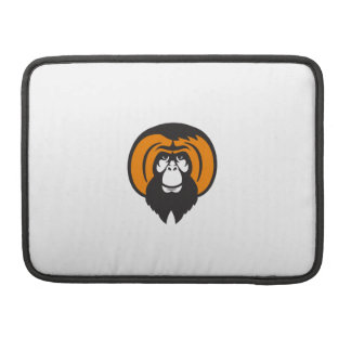 Orangutan Bearded Tussled Hair Retro Sleeve For MacBook Pro
