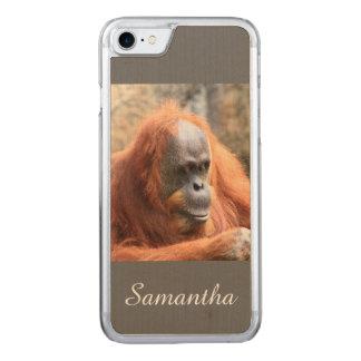 Orangutan Carved iPhone 7 Case