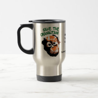Orangutan Conservation Travel Mug
