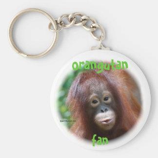 Orangutan Fan Keychain