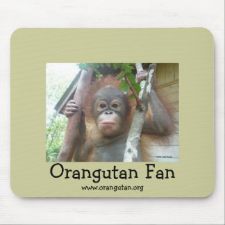 Orangutan Fan Mouse Pad