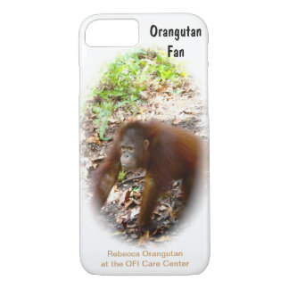 Orangutan Fan orphan Rebecca iPhone 7 Case