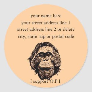 Orangutan Foundation International address labels