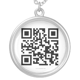 Orangutan Foundation International QR code Silver Plated Necklace
