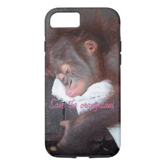 Orangutan Infant Sleeping iPhone 7 Case