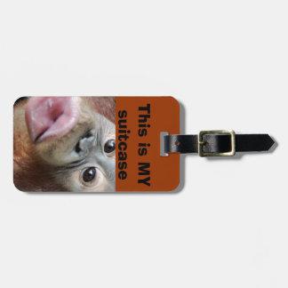 Orangutan Kiss Suitcase Identification Luggage Tag
