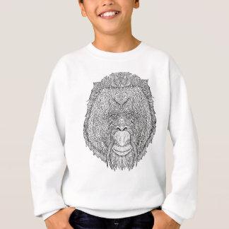 Orangutan Monkey Tee - Tattoo Art Style Coloring