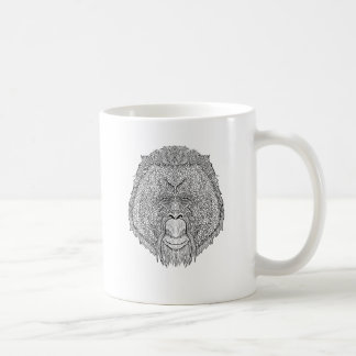 Orangutan Monkey Tee - Tattoo Art Style Coloring Coffee Mug