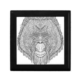 Orangutan Monkey Tee - Tattoo Art Style Coloring Gift Box