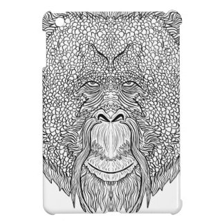 Orangutan Monkey Tee - Tattoo Art Style Coloring iPad Mini Cases