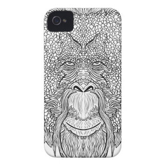 Orangutan Monkey Tee - Tattoo Art Style Coloring iPhone 4 Case-Mate Cases