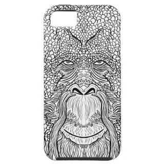Orangutan Monkey Tee - Tattoo Art Style Coloring iPhone 5 Cover